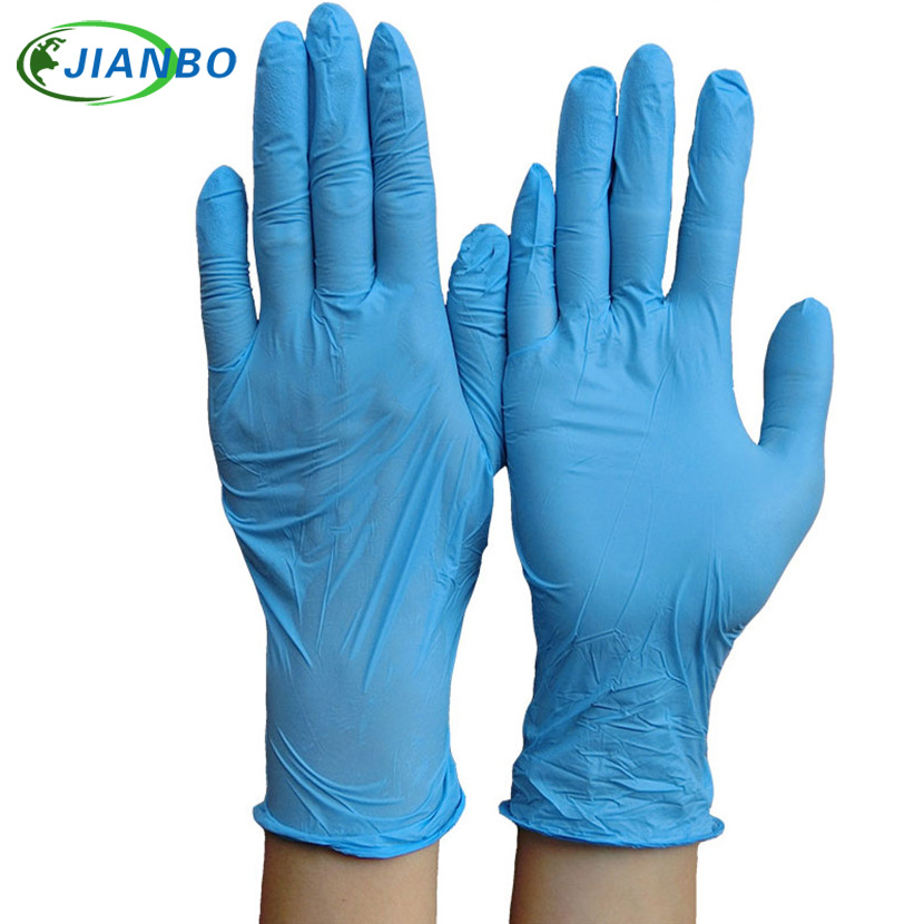 100Pcs Disposable  Blue Nitrile Gloves Laboratory Latex Working Gloves For Kitchen Medical Dentistry Oil-proof Acid Resistance 10 pairs pack acid and alkali extra strong medical black free nitrile disposable gloves electronics food medical laboratory