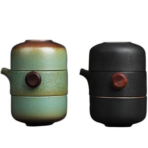Image 5 - TANGPIN japanese ceramic teapot gaiwan teacups handmade portable travel office tea set