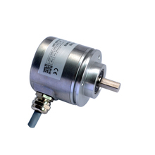 CAS60 cheap optical absolute encoder 10mm shaft absolute linear position sensor parallel SSI encoder low price single lap absolute encoder ssi interface output 14 bits 16384 resolution cas60r14e10sgb angle position sensor