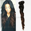 Two Tone Clip in Human Hair Extensions 7pcs 8A Grade Virgin Unprocessed Human Hair Ombre Clip in Hair Extensions SA86