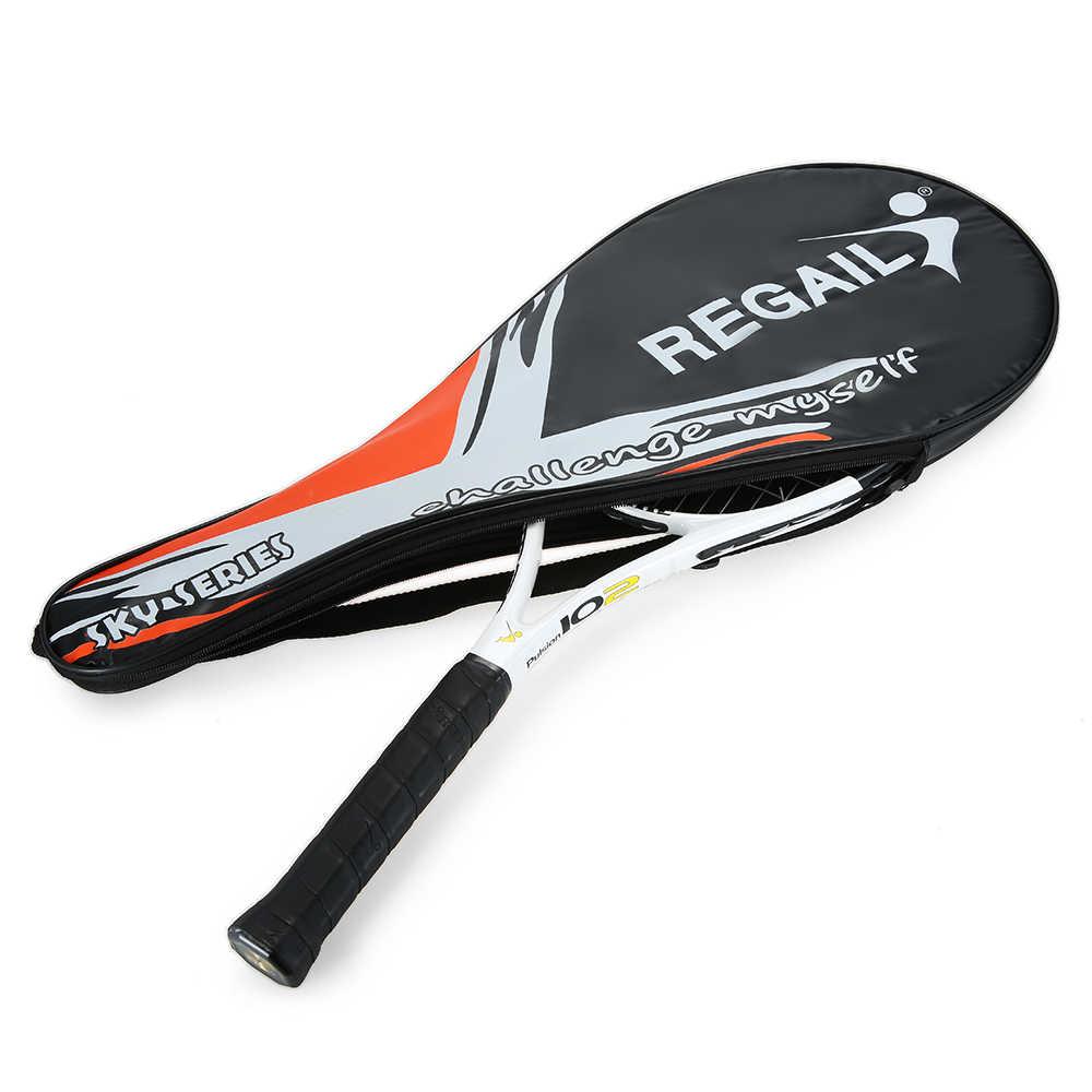 REGAIL Carbon Tennis Racket Indoor Outdoor Training Tennis Raquete with Cover Bag Tennis String raquetas de tenis High Quality
