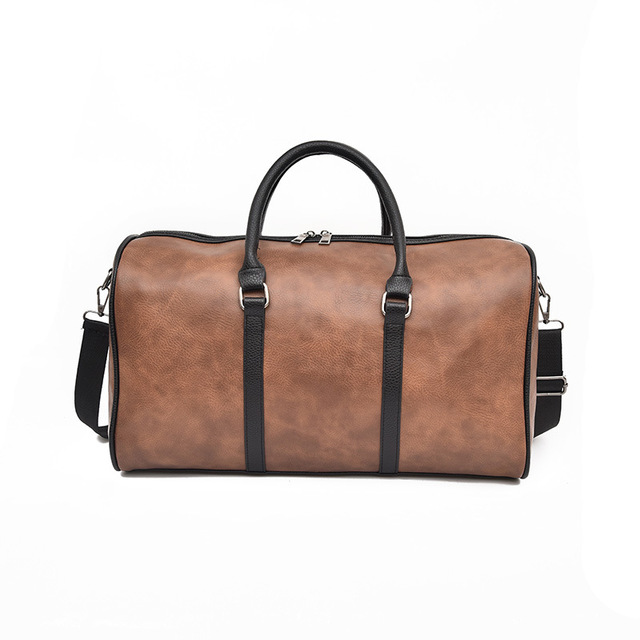 GYKZ Vintage Leather Outdoor Travel Duffle Bags Women and Men Sport Gym Bag  For Fitness Support Custom Sport Shoulder Bags HY112 a067d43368897