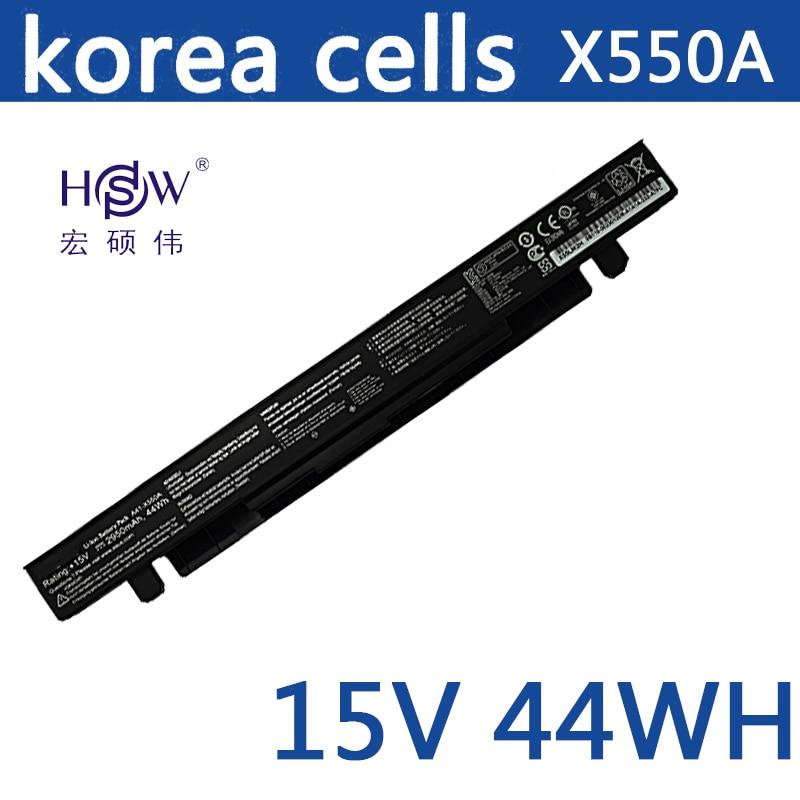 Original Battery 15V 44WH for Asus X550C X550B X550V X550D A41-X550A LAptop battery