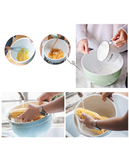 enamel Bowl Soup Pot Pan Cooking Kitchen Pots Enamel Pots Kitchen And Basin Baking Vegetable Salad Bowl cookware dinnerTG115
