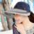 SEGLA Nuevos Sombreros de Paja Denim Sólido Plegable de Ala Ancha Anti-Ultravioleta Sombrero de Sun Elegante Mujeres Panamá Panamá Verano Playa Sombreros Ajustable Cap