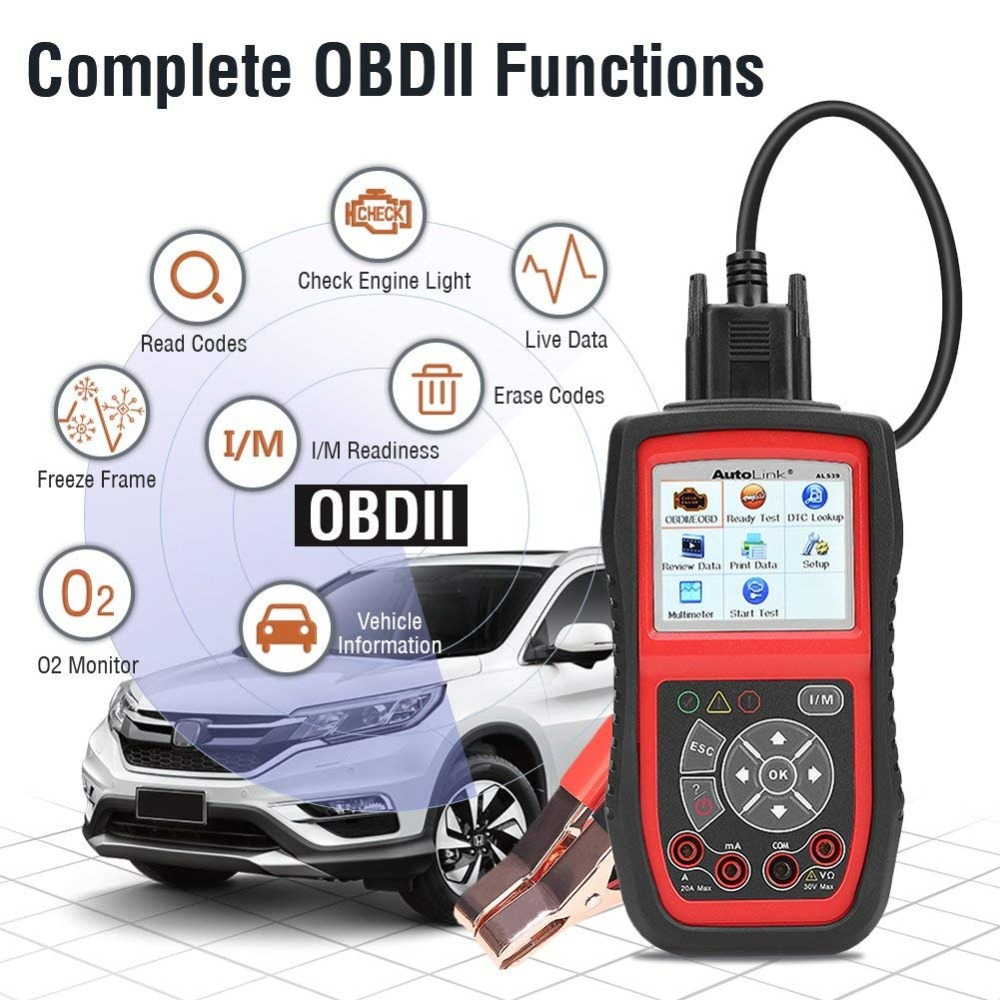 Image 3 - Autel AutoLink AL539B Auto Code Reader OBDII Diagnostic Tool OBD2 Scanner Electrical Tool Test Battery Test AVO Meter PK AL519