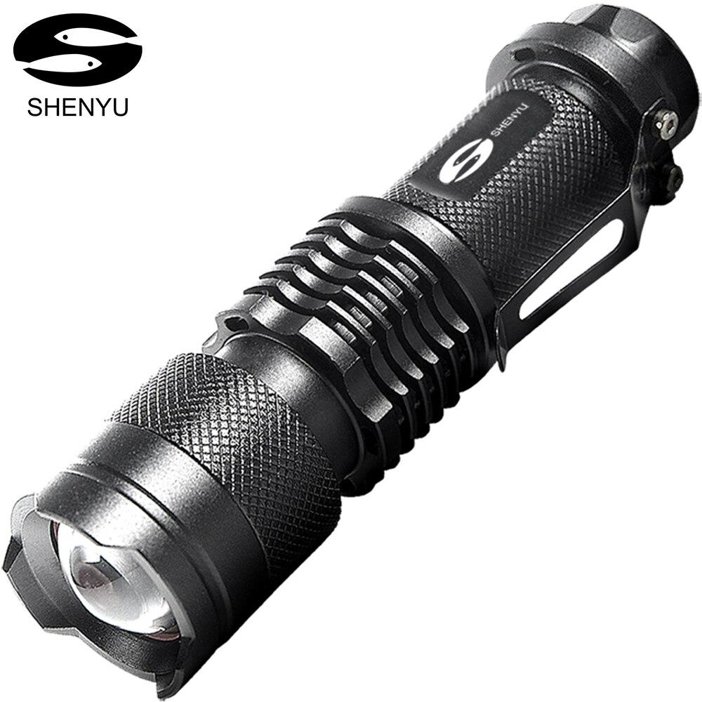 SHENYU 2000 Lumen Ultra Helle Taktische Taschenlampe 3 Modi 5 watt Mini Taschenformat Leichte Taschenlampe