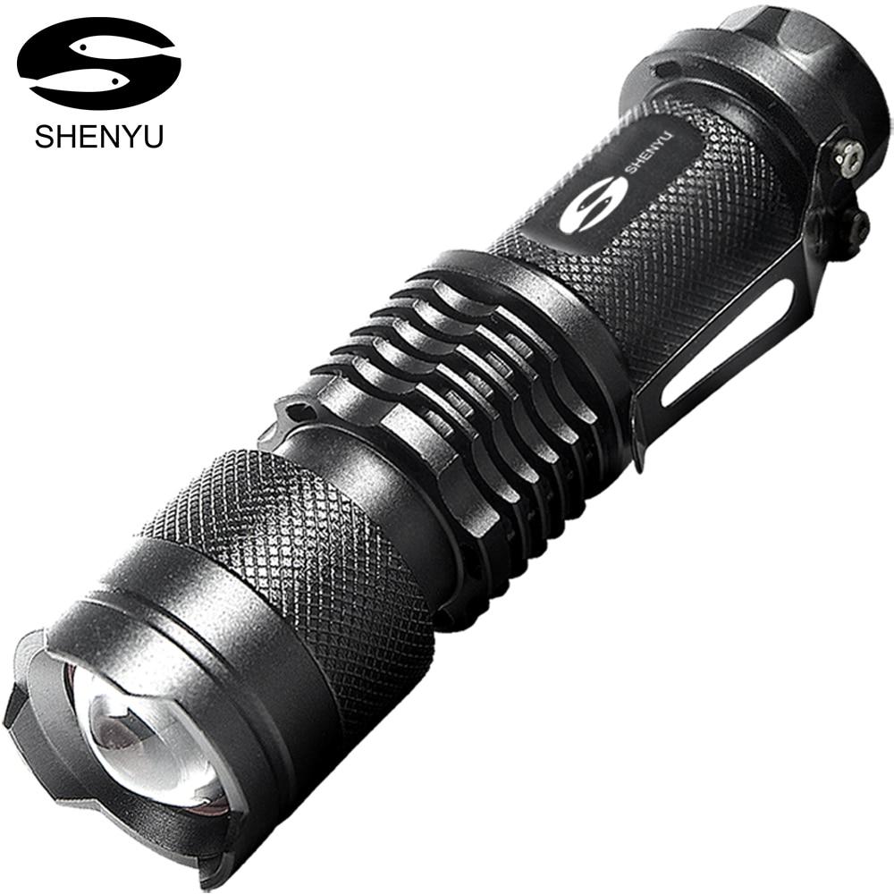 SHENYU 2000 Lumen Ultra Luminoso Tactical Flashlight 3 Modalità 5 w Mini Formato Tascabile Leggero Torcia