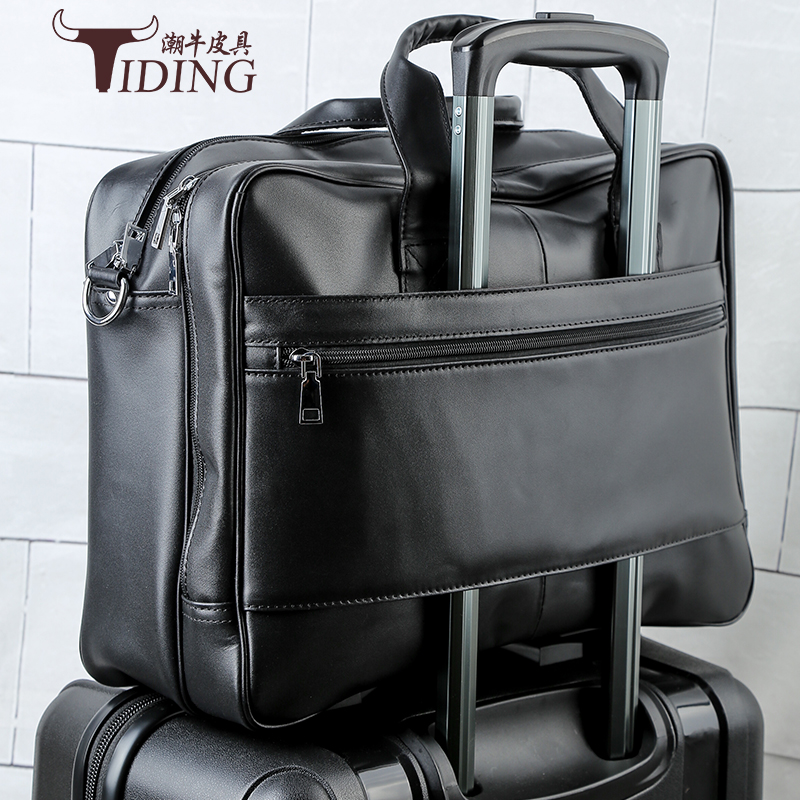 Genuine Leather Men Bags Fashion Man Crossbody Shoulder 17 laptop Handbag Men Messenger Bags Male Briefcase Men's Travel Bag genuine leather men briefcase business male fashion laptop handbag messenger bag men leather brand crossbody shoulder tote bags