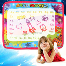 Baby Add Water With Magic Pen Doodle aqua magnetic drawing board Painting Picture Water Drawing Play Mat Educational Toys(China)