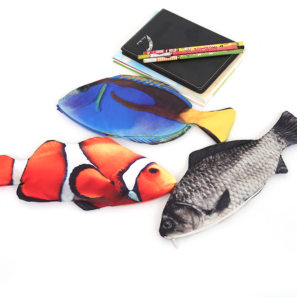Korea Style Kawaii Creative Fish Shape Pencil Case Girls Wallet Pencil Bags School Supplies Stationery Animal Coin Purses Holder цена 2017