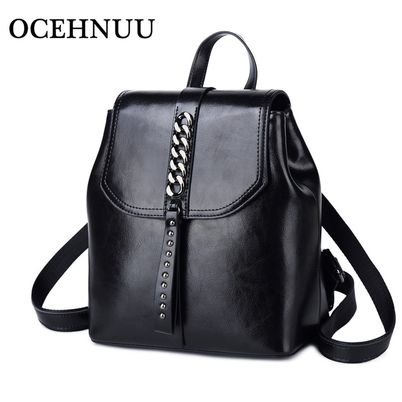 OCEHNUU Luxury Fashion Women Shoulder Bag Backpack Female Genuine Leather Ladies Backpack Travel Bag Rucksack Women Bagpack 2019OCEHNUU Luxury Fashion Women Shoulder Bag Backpack Female Genuine Leather Ladies Backpack Travel Bag Rucksack Women Bagpack 2019