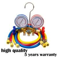 Neue Kälte Klimaanlage AC Diagnose Prüfarmatur Tool Set sn R12 R22 R134A R502 HVAC A/C