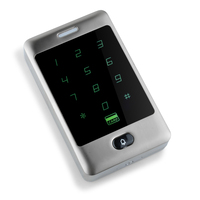 IP65 Waterproof RFID 125Khz Metal Touch Keypad for Door Access Control System Card Reader with 10 ID Key fobs