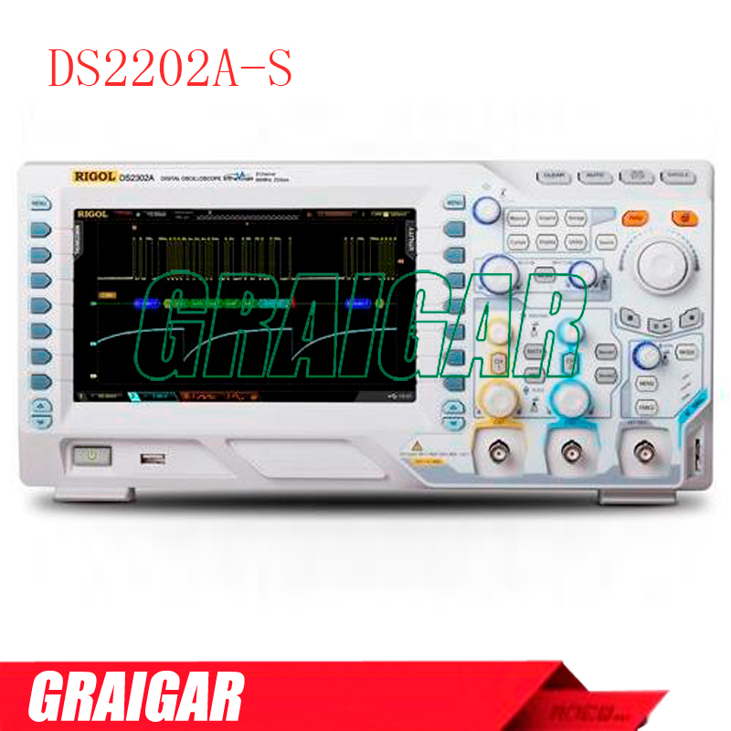 DS2202A-S <font><b>200</b></font> <font><b>MHz</b></font>, 2 Channel Digital Oscilloscope with integrated 2 channel source image