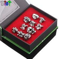 טבעת אצבע 10 יח'\חבילה בציר פאנק אנימה חתיכה אחת לופי זורה חוק טרפלגר קוספליי טבעת שלד טבעות תלבושות מפלגה אבזר