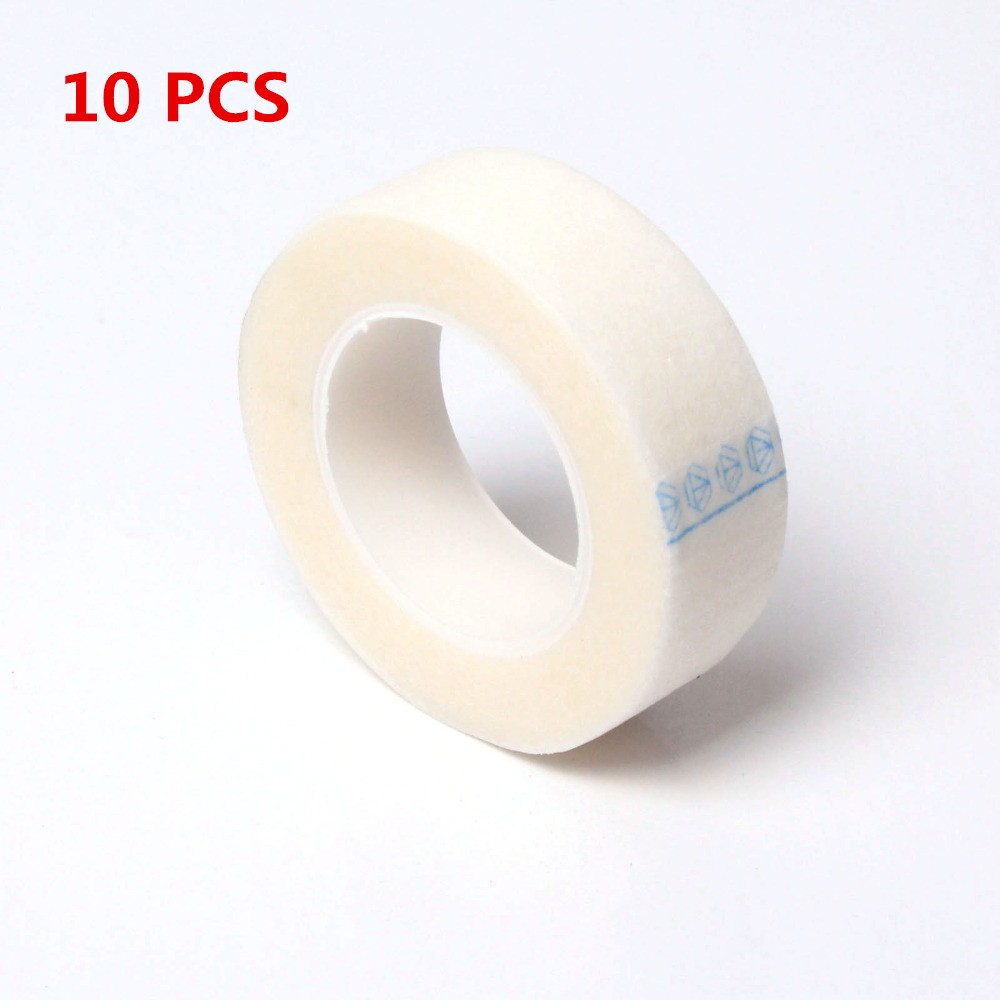 10 PCS/LOT Rolls Eyelash Tape Lash Individual Extension Tools Supply Medical Tape Eye pa ...