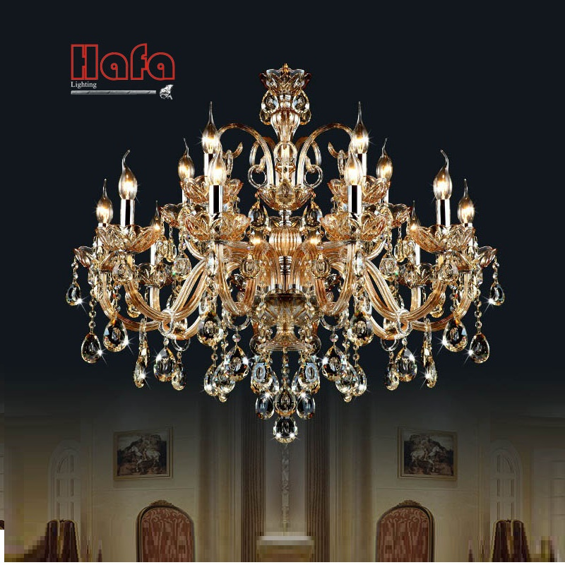 Free Shipping 15 Arms crystal chandelier font b Light b font Luxury Modern crystal Lamp chandelier