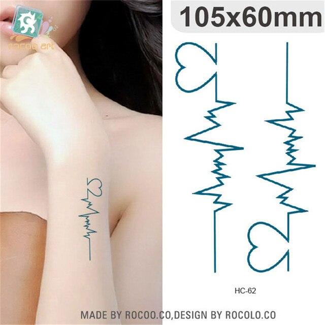 Body Art Waterproof Temporary Tattoos For Men Women Sexy 3d Love