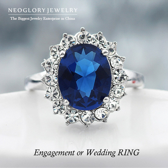 Neoglory Charm Princess Kate Designer Crystal Rings for Women Rhinestone Wedding Jewelry Accessories Charm Wholesale 2014 New