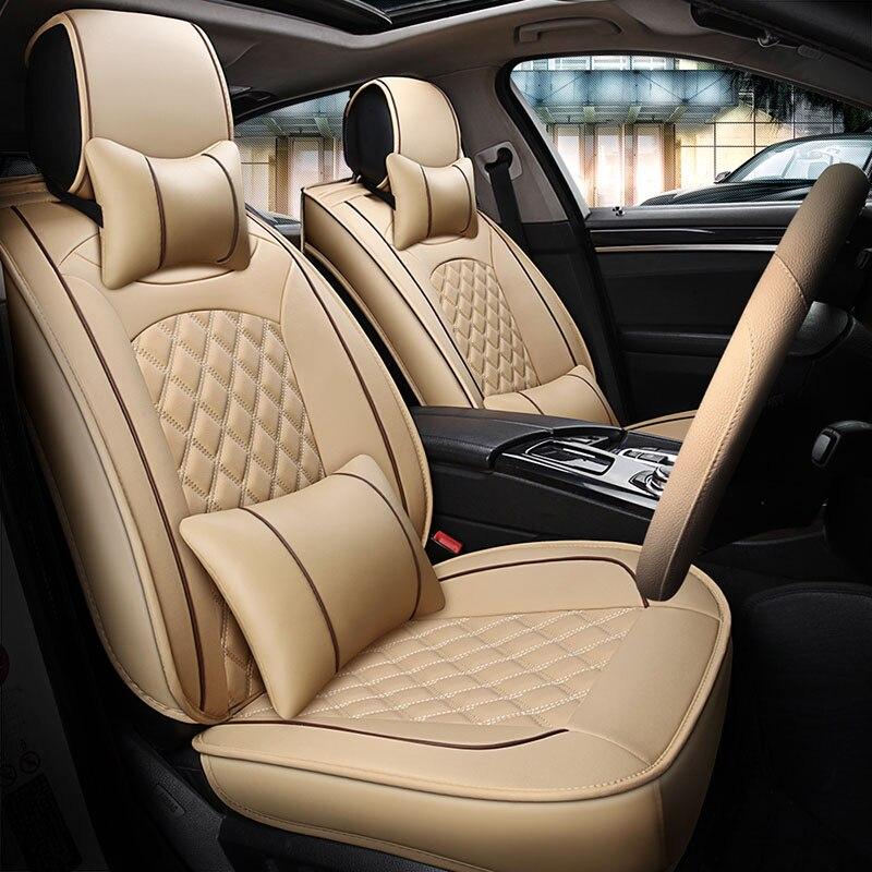 Housses de siège en cuir de voiture universel auto couvre pour Subaru Legacy BL BP Justy Trabeca bb Land Rover Découverte 3 4 freelander 2