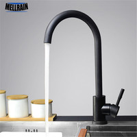 Black And White Color 304 Stainless Steel Paint Kitchen Faucet Mixer Dual Sink Ratation Kitchen Water