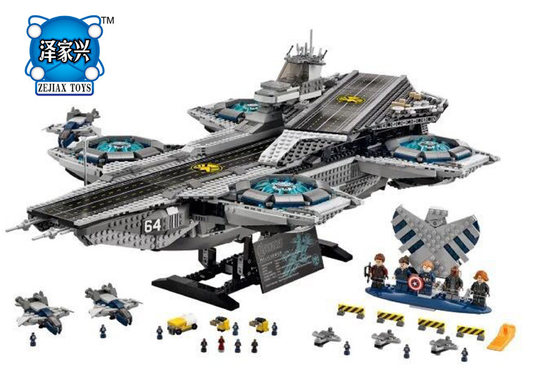 Super Heroes The Shield Helicarrier Model Building Kits Blocks Bricks Figures Toys Compatible Lepines lele bela block toy gift lepin 22001 pirate ship imperial warships model building block briks toys gift 1717pcs compatible legoed 10210