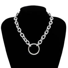 326582703b60 2019 gótico collar de gargantilla de cadena círculo roca declaración Collar  para las mujeres joyas goth