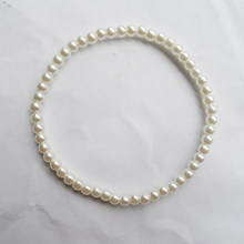{New style fine quality 4MM pearl bracelet,fashion 4mm pearl stretch bracelet, factory wholesale pearl bracelet with elastic(China)