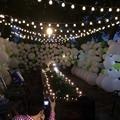 10 m 38 Bolas Luces Navidad LED String Fada Luzes de Natal Luzes Ao Ar Livre Lâmpadas de Decoração de Casamento Guirlande Lumineuse Boule