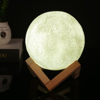 Modern Home 3D Printing 400lm LED Beam Moon Luna Night Light Lamp Birthday