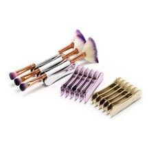 5 решетчатых держателей для дизайна ногтей, подставка-держатель для ногтей, салонная стойка для кистей, аксессуары, кристальная ручка для хранения, Маникюрный Инструмент, 7,2x4,9x2 см
