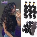 3 Bundles Brazilian Body Wave With Frontal Brazilian Virgin Hair With Frontal Closure Iwish Brazilian Body Wave With Closure