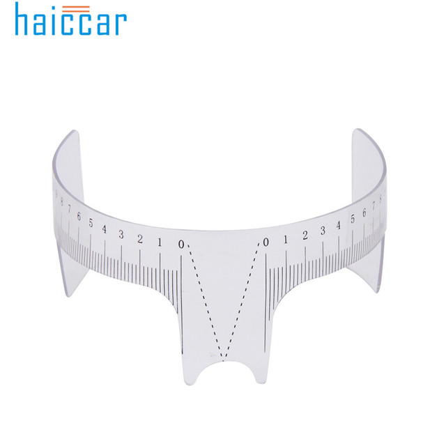 HAICAR 1PC Eyebrow Guide Ruler Practical Permanent Tool Microblading Reusable Makeup Brow Measure Tattoo Stencils Pretty