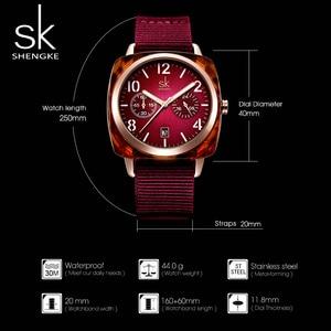 Image 4 - Shengke אופנה שעון נשים ניילון חגורת קוורץ שעון שעוני יד גבירותיי Relogio Feminino Zegarek Damski חדש 2019