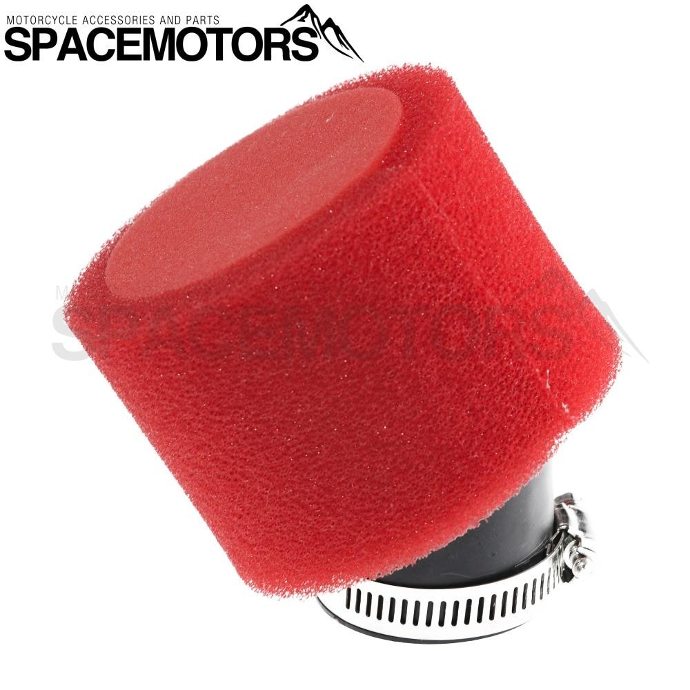 35mm-48mm 45 degree Air Filter for ATV Dirt Pit Bike Pitbike Motocross Motorcycle Carburetor 110 cc 125 cc CRF50 XR50 CRF Kayo