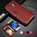 Para samsung galaxy a5 2016 case suporte flip pu carteira de couro case para samsung galaxy s7 s7 edge s6 s5 nota 5 casos de telefone cinta
