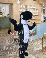 שחור חדש דולפין קמע תלבושות קמע קרנבל תלבושות חליפת עסקים מותאמים אישית fursuit פנסי מפלגת dress