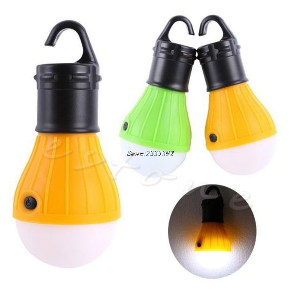 Outdoor Hanging LED Camping Tent Light Bulb Fishing Lantern 3x LED Lamp Torch