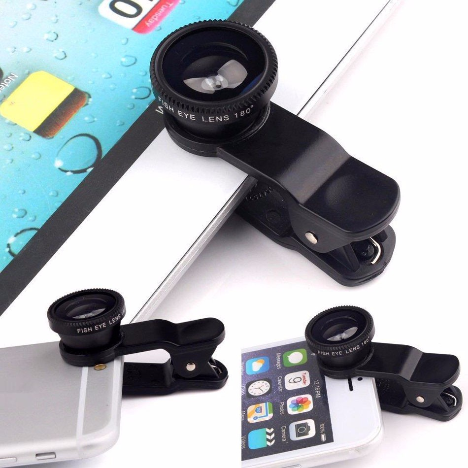 Newest Mobile Phone Camera Lens Kits Fisheye lense Wide Angle Macro Lens 12X Zoom Camera Telephoto Lens For iPhone Samsung LG 19