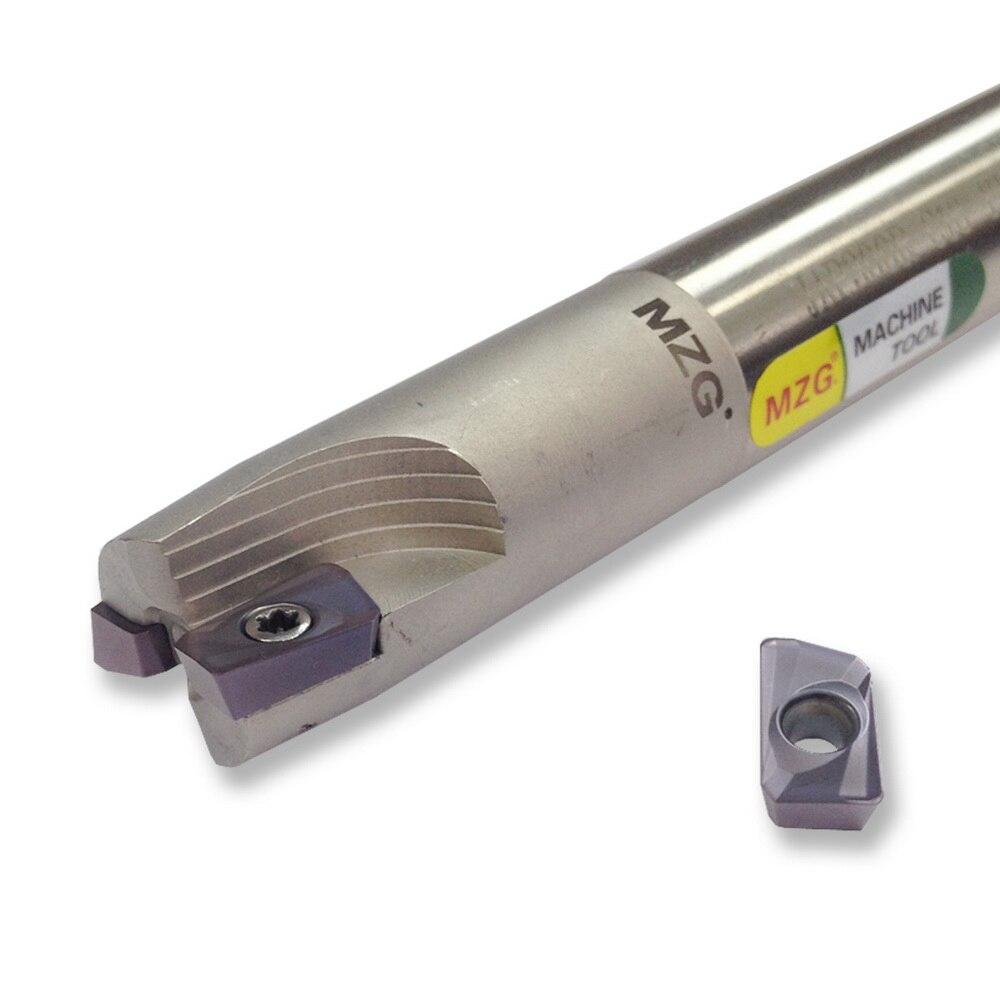 MZG BAP300RC10-10-100-1T Hartmetalleinsatz Geklemmt Fräsen Schneiden Schulter Rechtwinklig Präzision Fräser Schaftfräser Schaft