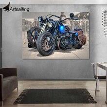 """1 панель с принтом """"мотоцикл"""" живопись на холсте настенная художественная картина украшение дома/y-2844"""