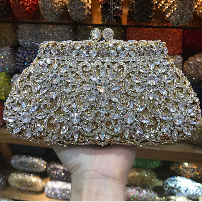 XIYUAN BRAND Luxury Fashion Women Christmas gift items gold Crystal Evening Bags Party Handbags Ladies Wedding Bridal Clutch Bag xiyuan brand gold party purse bags women luxury silver crystal evening bags female pochette diamond ladies wedding clutch bags