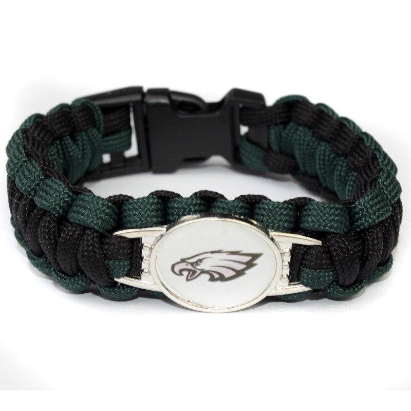 3 Style Philadelphia Eagle Football Team Bracelet Sport Team Umbrella Braided Bracelet Football Fans Gift 10PCS