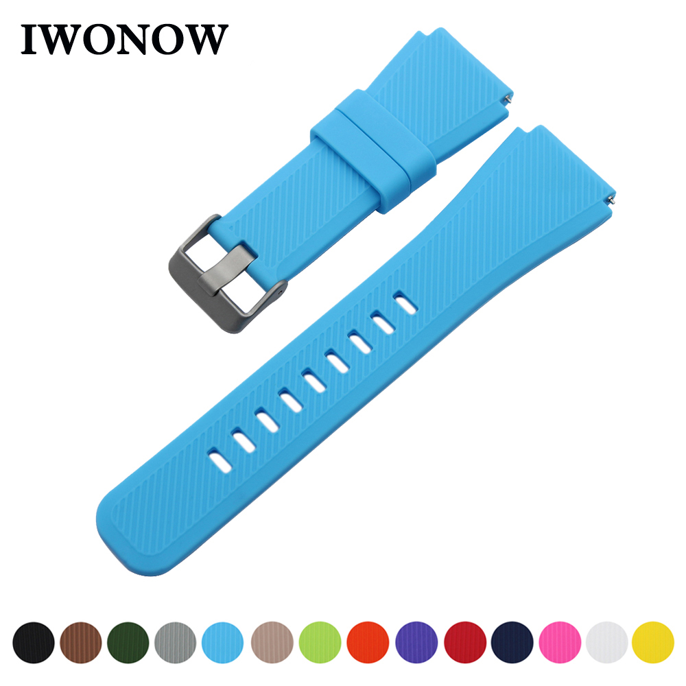 Silicone Rubber Watch Band 22mm for LG G Watch W100 / W110 ...