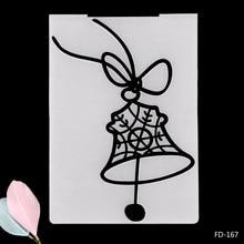 2019 New Arrival Scrapbook Merry Christmas Bell DIY Paper Scrapbooking Craft/Card Making Decoration Plastic Embossing Folder
