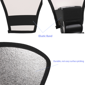 Image 3 - צילום אביזרי 2 ב 1 כסף לבן אור רפלקטור פלאש מפזר עבור Canon/ניקון/סוני/Yongnuo/ minolta/Pentax/אולימפוס