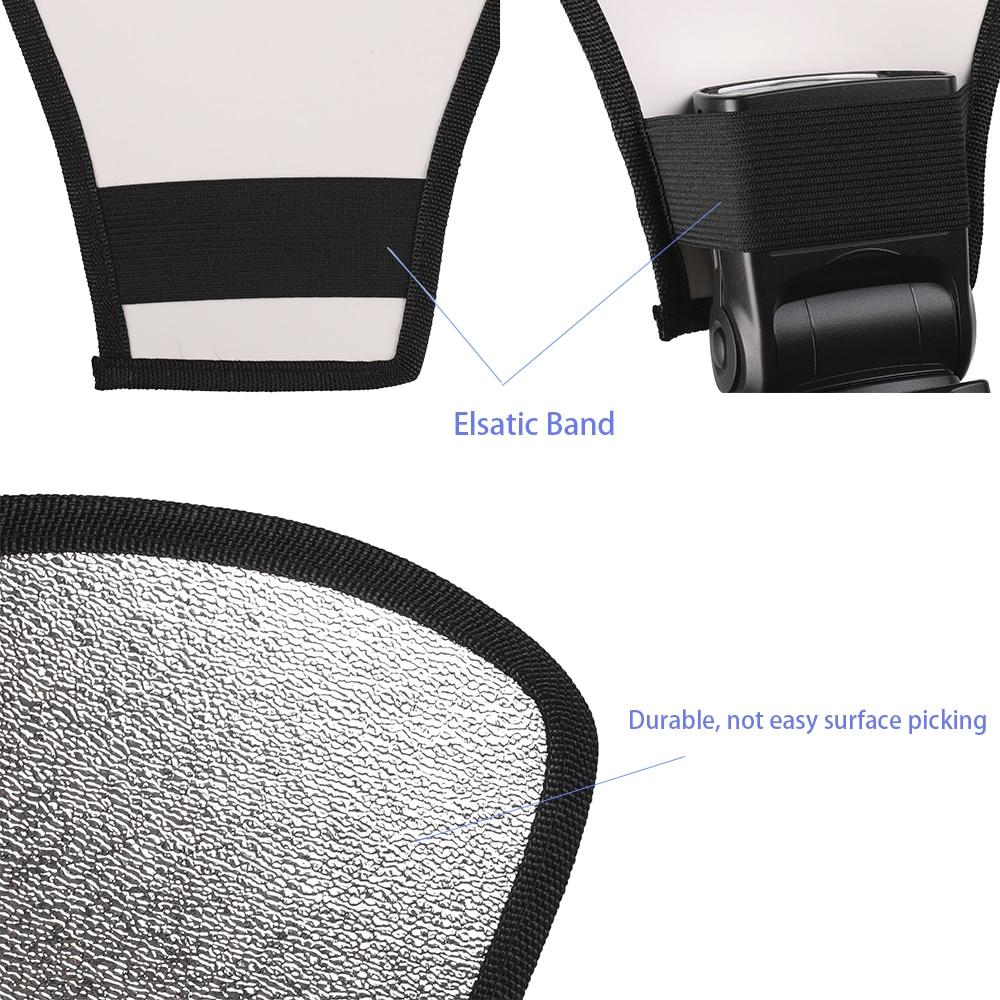 Фотографии аксессуары 2 в 1 серебро белый свет отражатель рассеиватель для Canon/Nikon/Сони/вспышка Yongnuo/Минолта/Пентакс/Олимпус