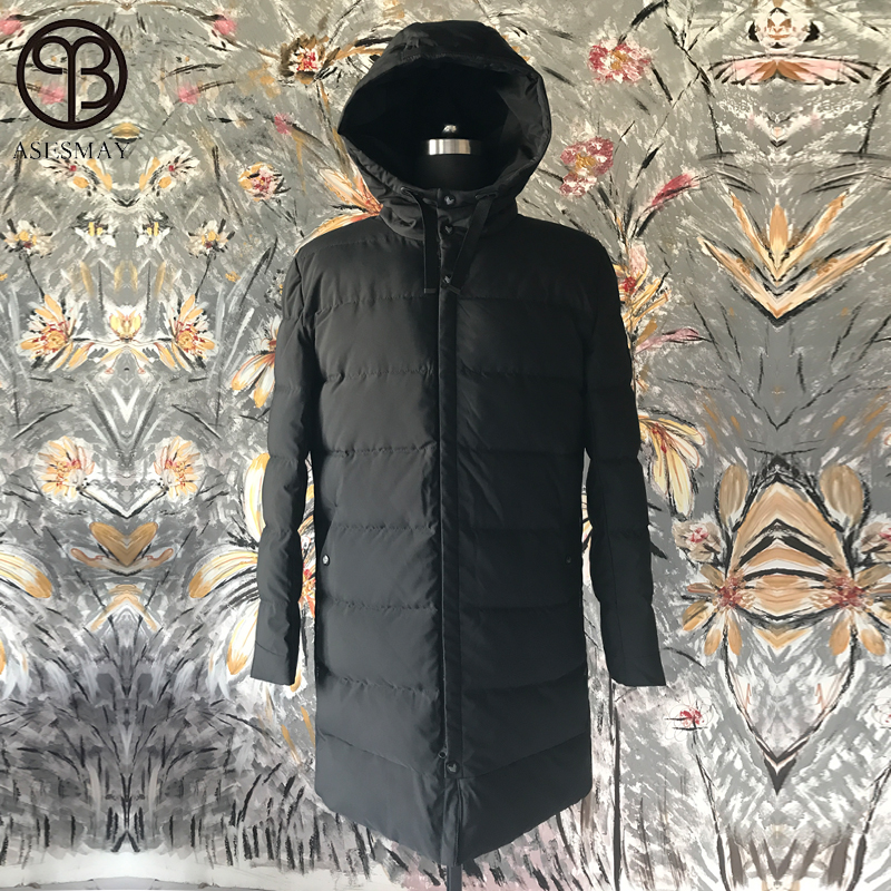 Asesmay Luxury Brand Clothing Long Winter Jacket Men Jackets Thick Warm Man Coat Hooded Men's Clothing Parka Outwear Plus Size clothing mens winter jackets coat warm men s jacket casual outerwear business medium long coat men parka hooded plus size xxxl