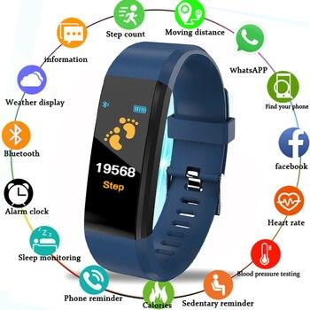 2019 new smart watch pedometer Call message reminder heart rate sleep monitor smart bracelet wristband